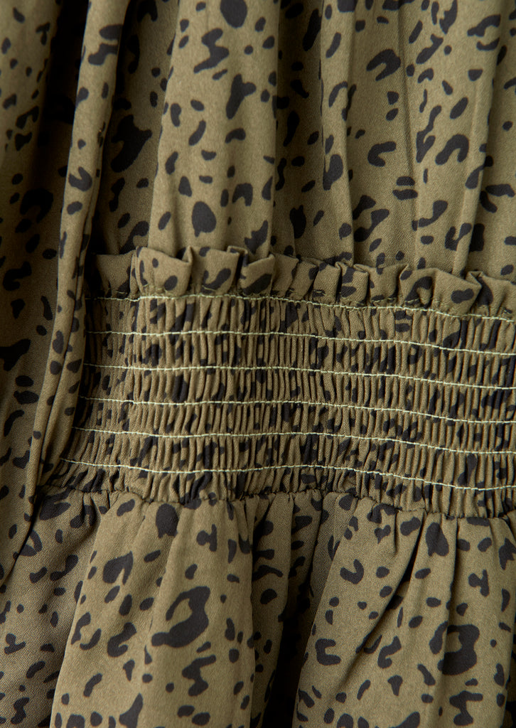 Fern Khaki Animal Dress