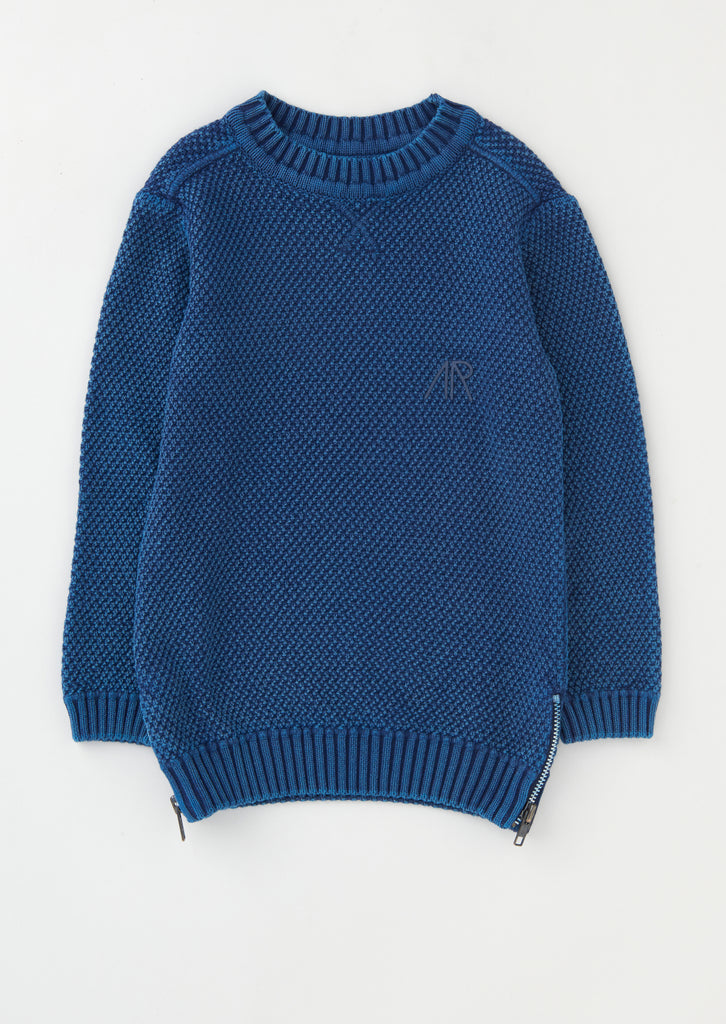 Henry Side Zip Ribbed Jumper