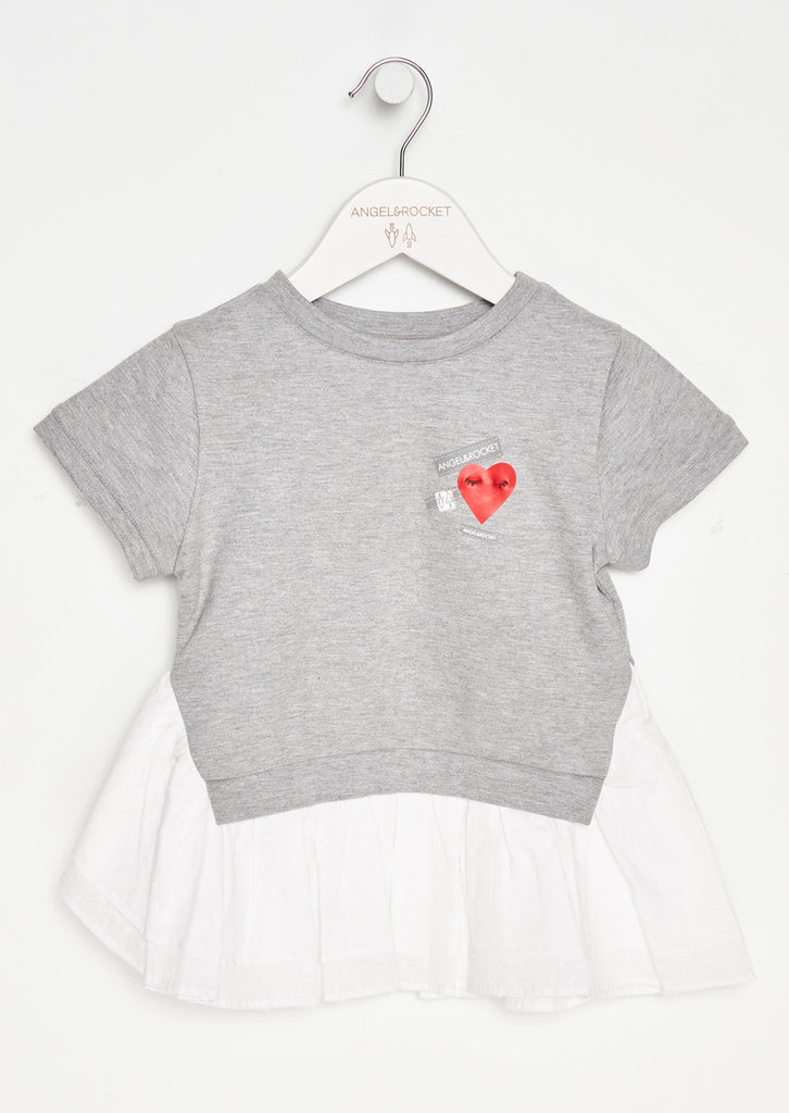 Betsie Mock Layered Heart Motif Sweat