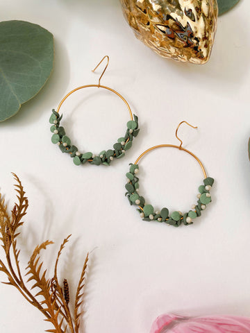 Holiday Wreath Earrings