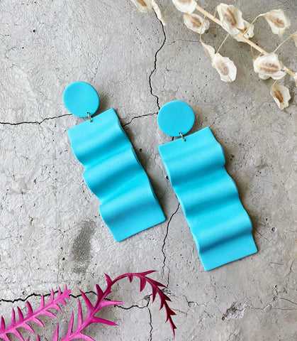 Celosia Earrings in Blue