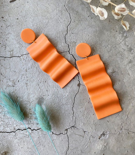Celosia Earrings in Creamsicle