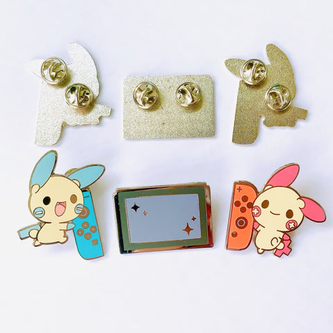 Nintendo Switch Plusle Minun Enamel Pin Set 1.5""