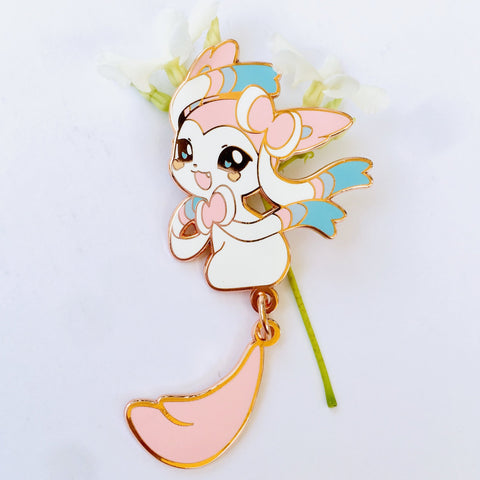 Sylveon Dangling Tail Enamel Pin 3.5""