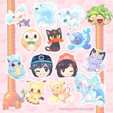 Alolan Pokemon Stickers 18pc Set