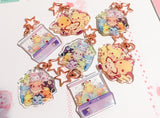 Pikachu Charms (2 inch Clear Acrylic)