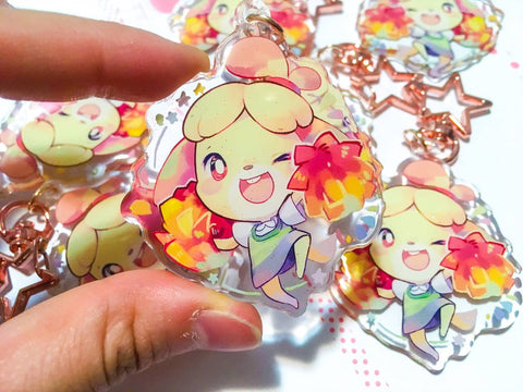 Isabelle Charms (2 inch Clear Acrylic)