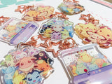 Eeveelution Charms (2 inch Clear Acrylic)