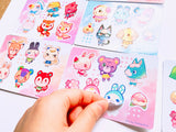 Animal Crossing Sticker Sheets High Quality Vinyl (4x6inch)