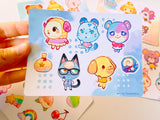 **PRE-ORDER** Animal Crossing Sticker Sheets High Quality Vinyl (4x6inch)