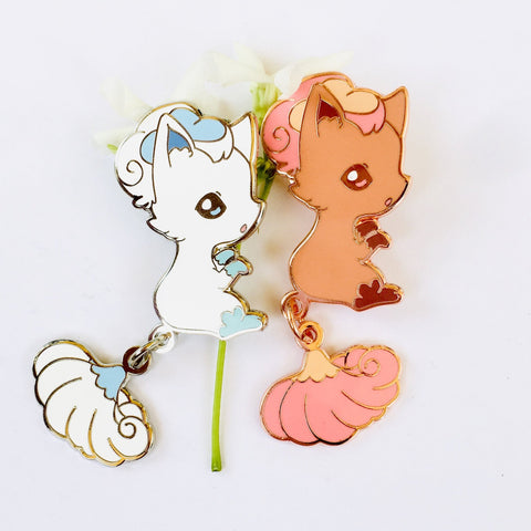 Vulpix Dangling Tail Enamel Pin 3.5""