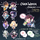 OVERWATCH Charms (2 inch clear acrylic)