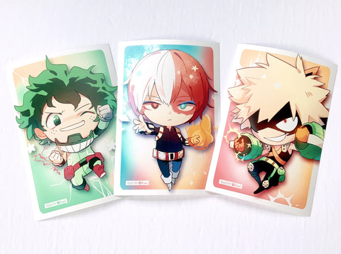BNHA Postcard Prints 3pc set (6x4inch)