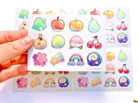 Fruits Vinyl Sticker Sheet (Limited Holographic version)