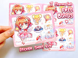 Cardcaptor Sakura Charms (double-sided clear acrylic)