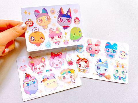"Tamagotchi Sticker Sheets (5"")"