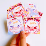 Marshal Stickers 2pc Set [Animal Crossing]