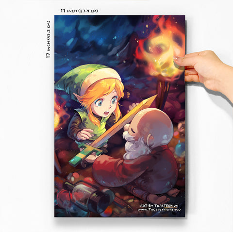"It's Dangerous to Go Alone! Poster (11x17"") [The Legend Of Zelda]"