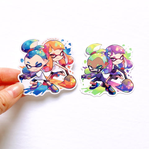 Splatoon Inkling Sticker set