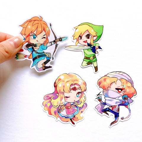 4 piece Sticker Set [The Legend of Zelda]