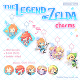 The Legend of Zelda Charms (2 inch Clear Acrylic)