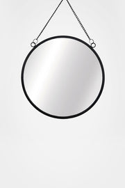 Round Hanging Mirror, Black - Sass & Belle - The Sunday Home