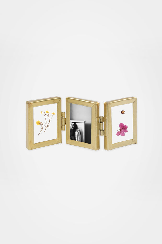 Mini Triple Photo Frame, Gold - Sass & Belle - The Sunday Home