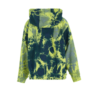 NEON GREEN ULTIMATE TIE DYE DENIM HOODIE
