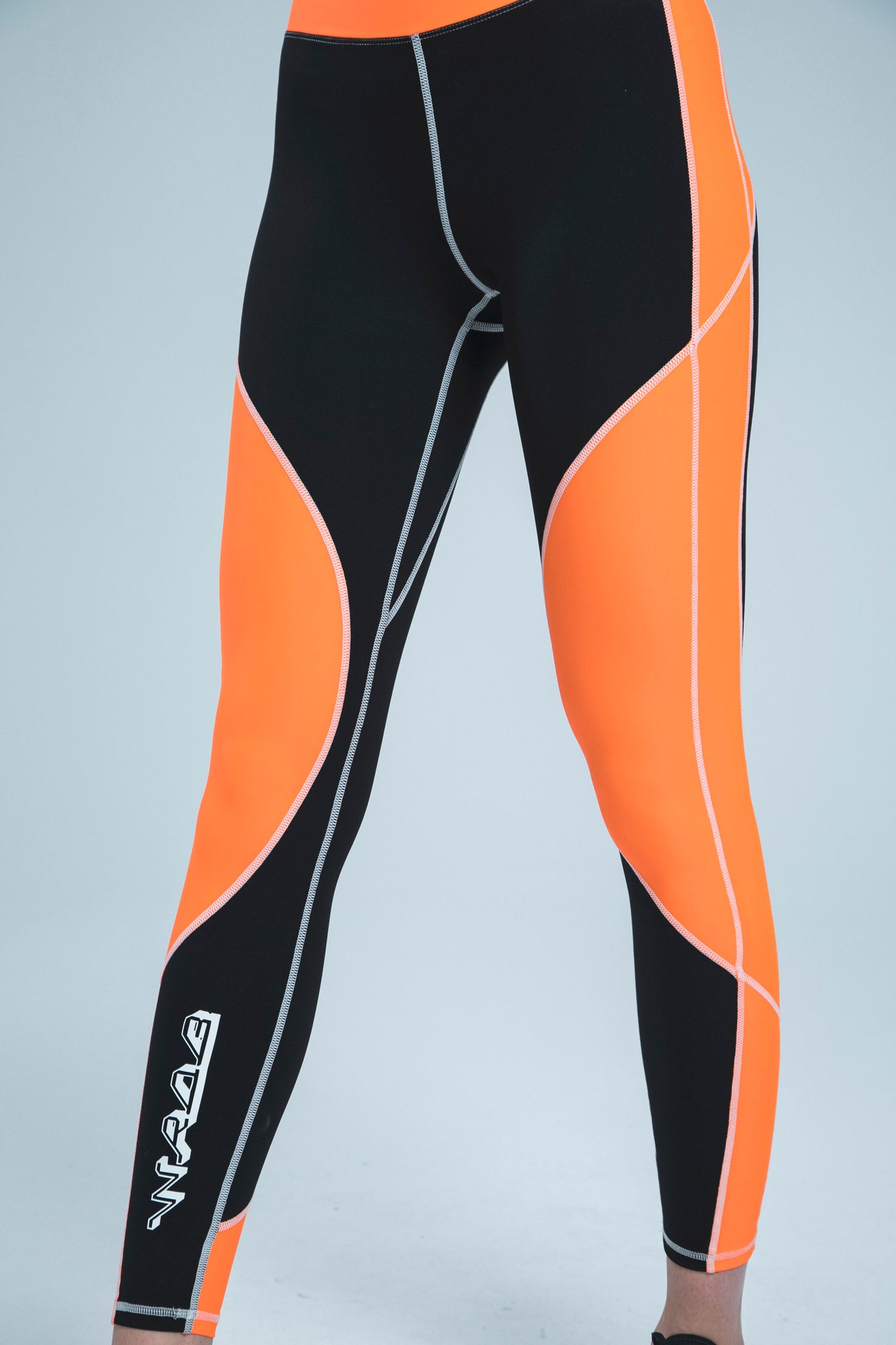 LOGO BLACK & ORANGE LEGGINGS