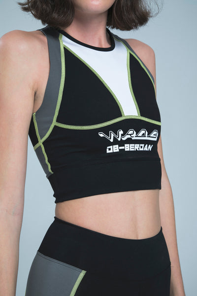 DB'S BLACK CROP TOP