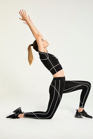 LOGO BLACK LEGGINGS