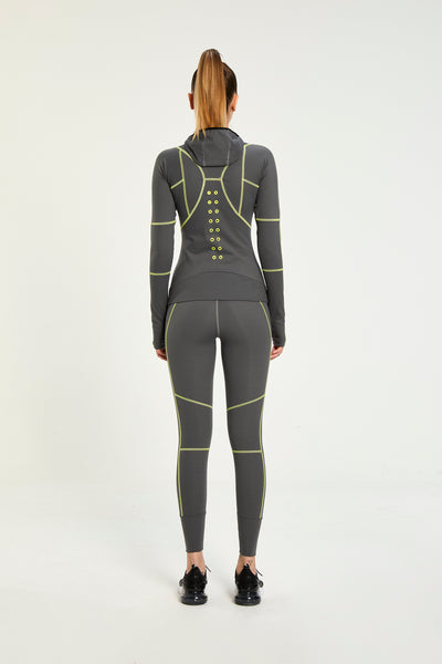 CROSS-OVER GREY ULTRA TECHNOLOGIC HIGH WAISTED LEGGINGS