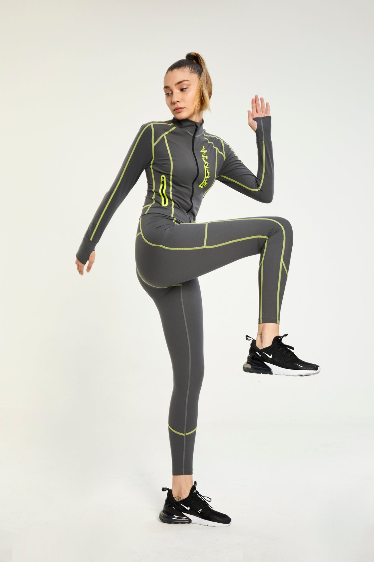 URBAN GREY ULTRA TECHNOLOGIC HIGH WAISTED LEGGINGS