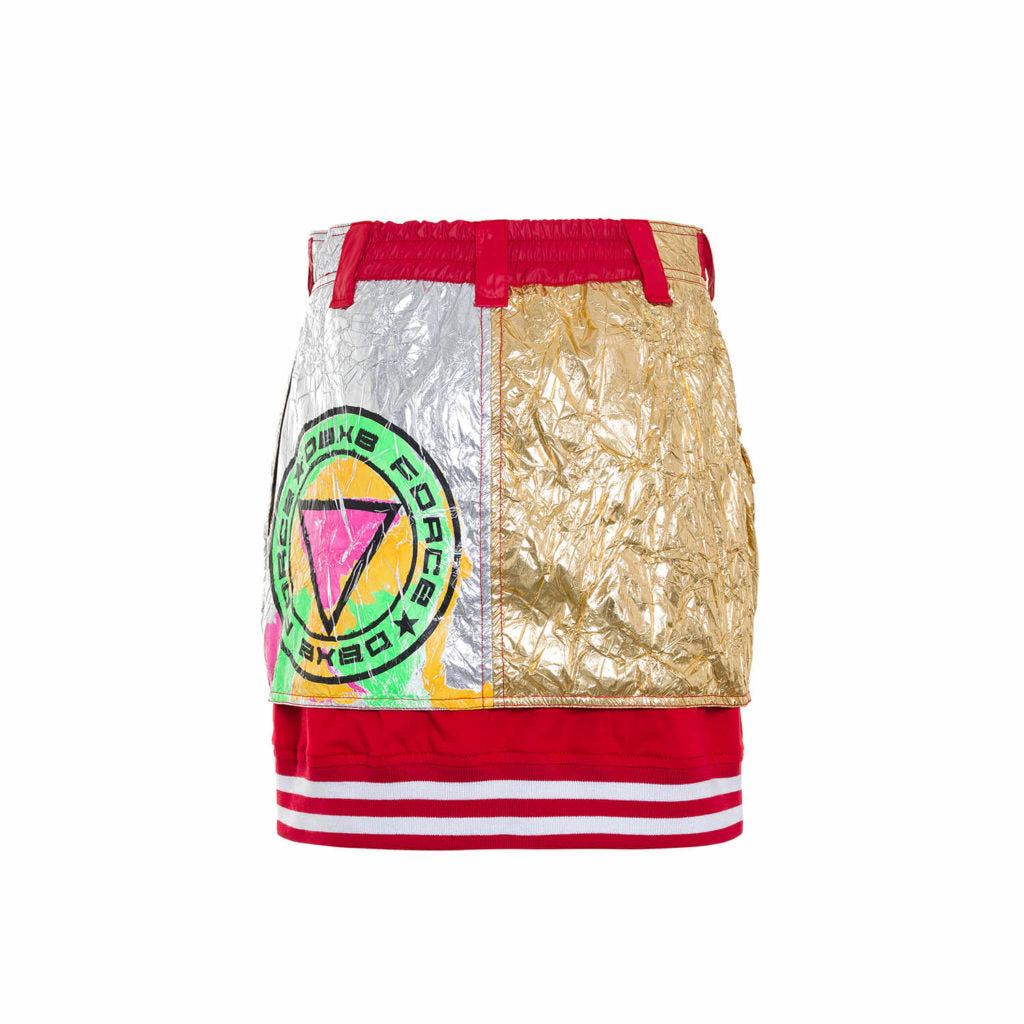 Aliminum Foil Fighter Mini Skirt