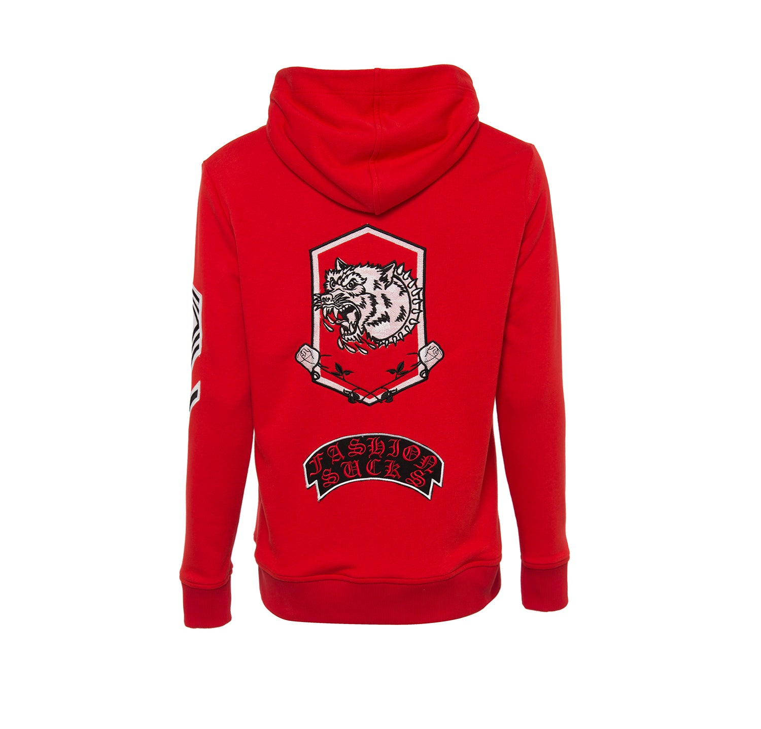 ULTRA PATCHED RED SWEATSHIRT