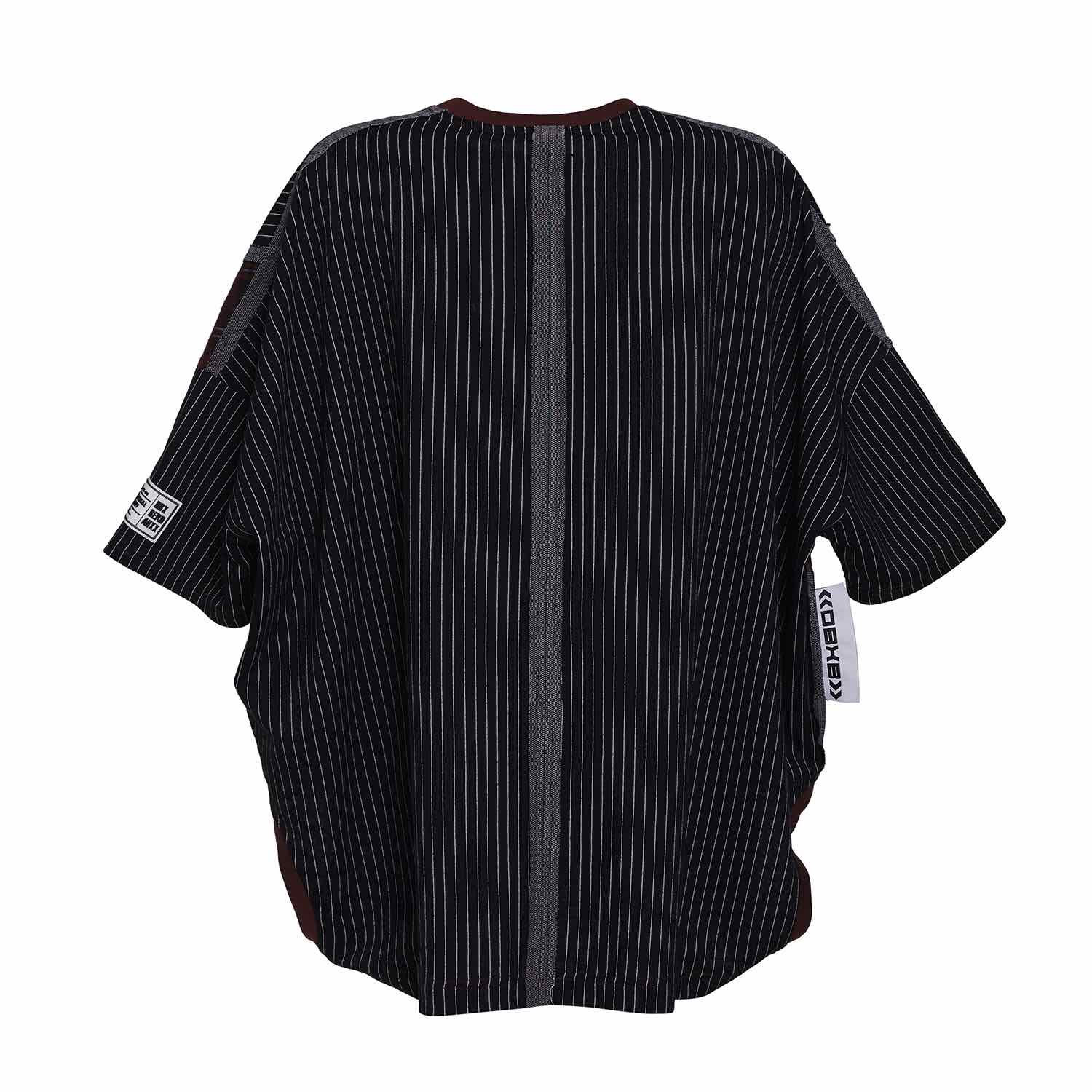 PIN STRIPE UPSIDE DOWN T-SHIRT