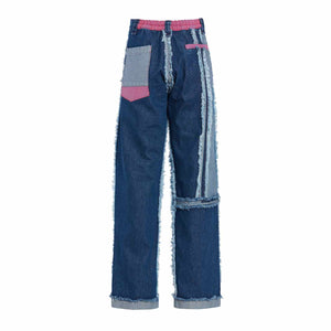RAW EDGED DENIM PANTS