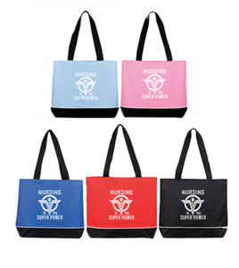 """Nursing is my Superpower"" Zippered Shoulder Tote Bag"