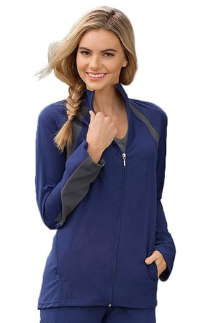 Jockey Women's Athletic Warm Up Solid Scrub Jacket