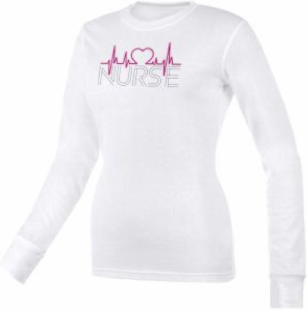 Nurse EKG Heart Print Thermal