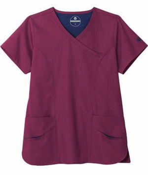 F3 Fundamentals by White Swan- Women's Smiley Pocket Scrub Top
