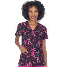 Load image into Gallery viewer, Women's Breast Cancer Awareness Scrub Top