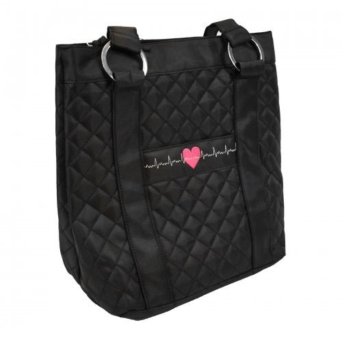 EKG Heart Deluxe Tote Bag