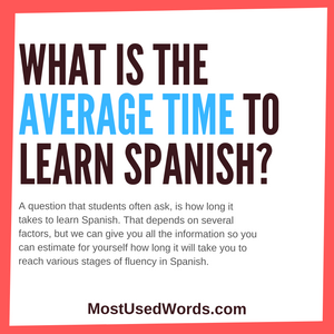 What Is The Average Time To Learn Spanish?