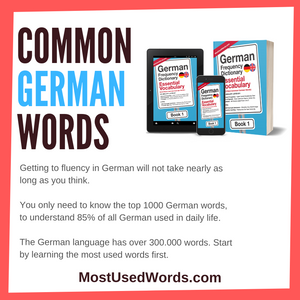 Common German Words - High-Frequency German Vocabulary For Learners