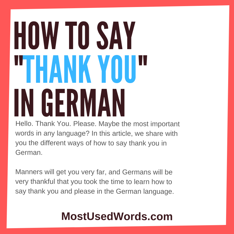 How to Say Thank You in German - When A Simple Thanks Just Won't Do.