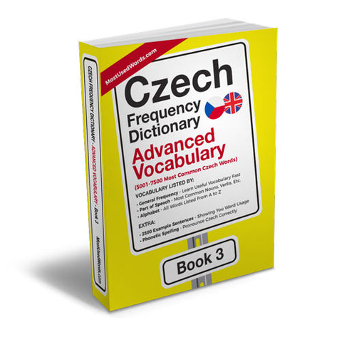 Czech Frequency Dictionary 3 - Advanced VocabularyMostUsedWordsFrequency Dictionary MostUsedWords
