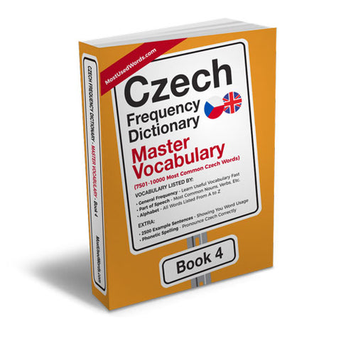 Czech Frequency Dictionary 4 - Master VocabularyMostUsedWordsFrequency Dictionary MostUsedWords