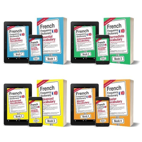Complete French Frequency Dictionary Set