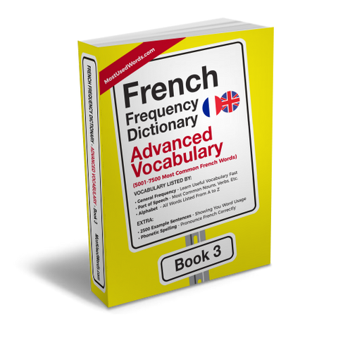 A Frequency Dictionary of French - French Common Words and Verbs -How To Increase French Vocabulary Fast